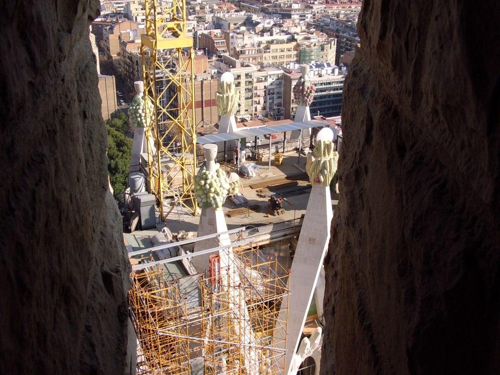 view from top of la Sagrada familia Barcelona