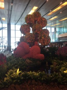 Sculptural art at CHANGI