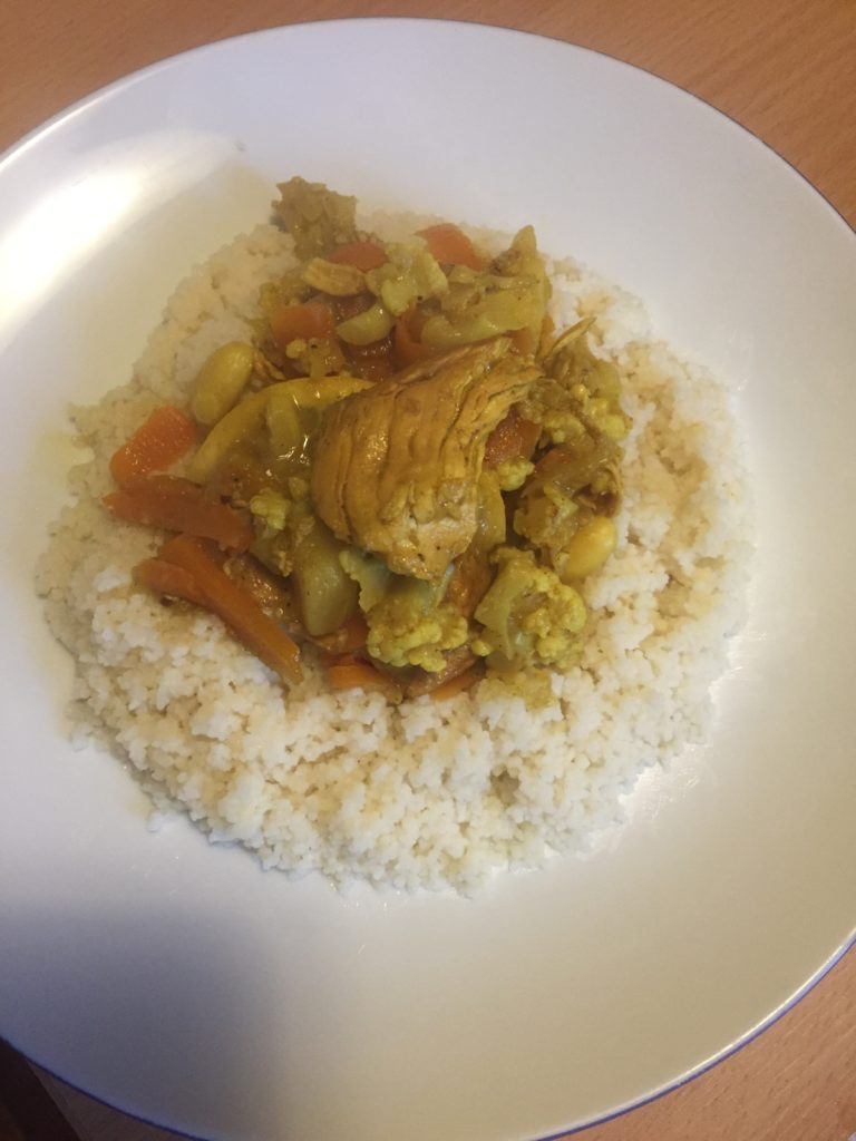 Easy chicken Tajine