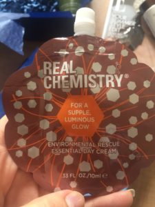 Real chemistry day cream sample