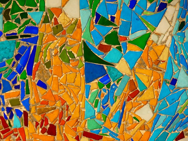 famous mosaic by Gaudi