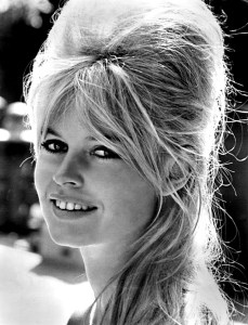Old photo of a young bridgitte bardot