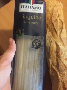 Rosemary linguini in packet