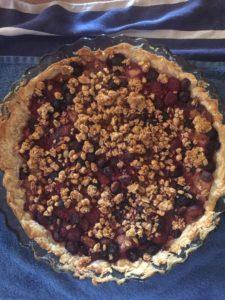 finished berry tart