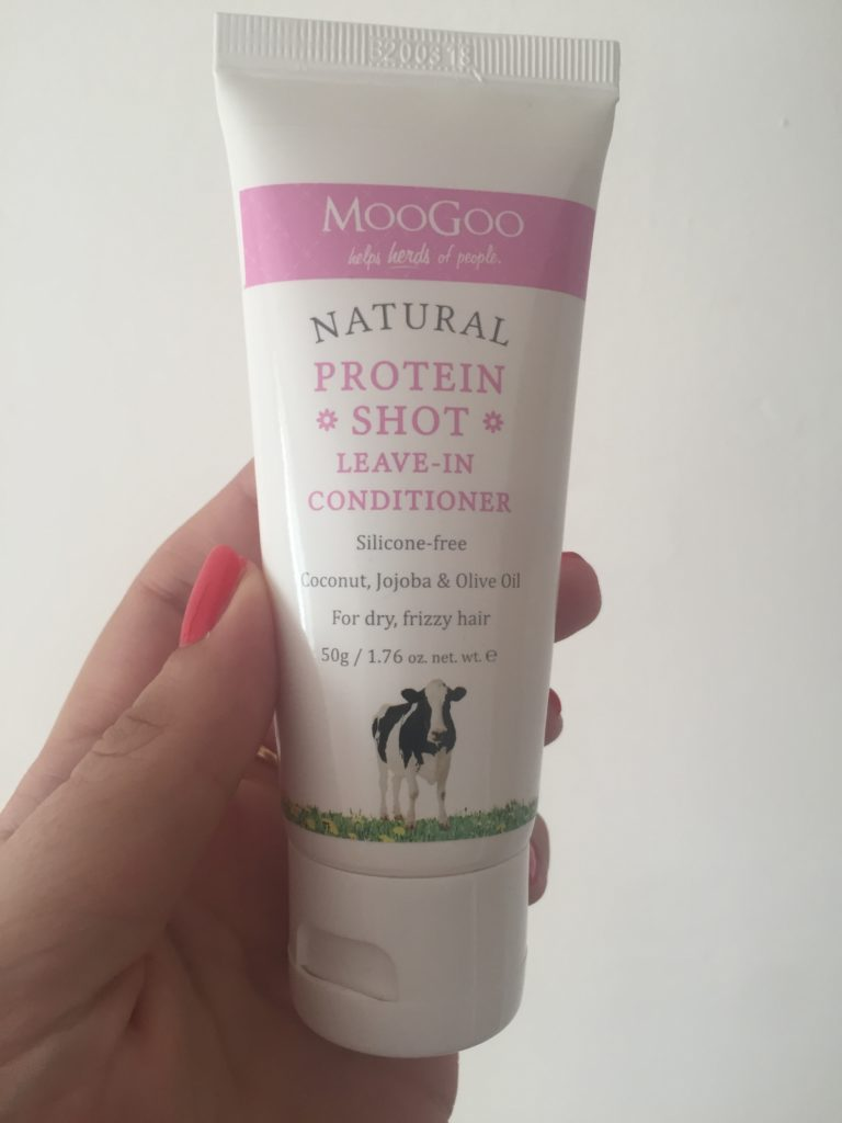 Moo Goo protein shot hair cream