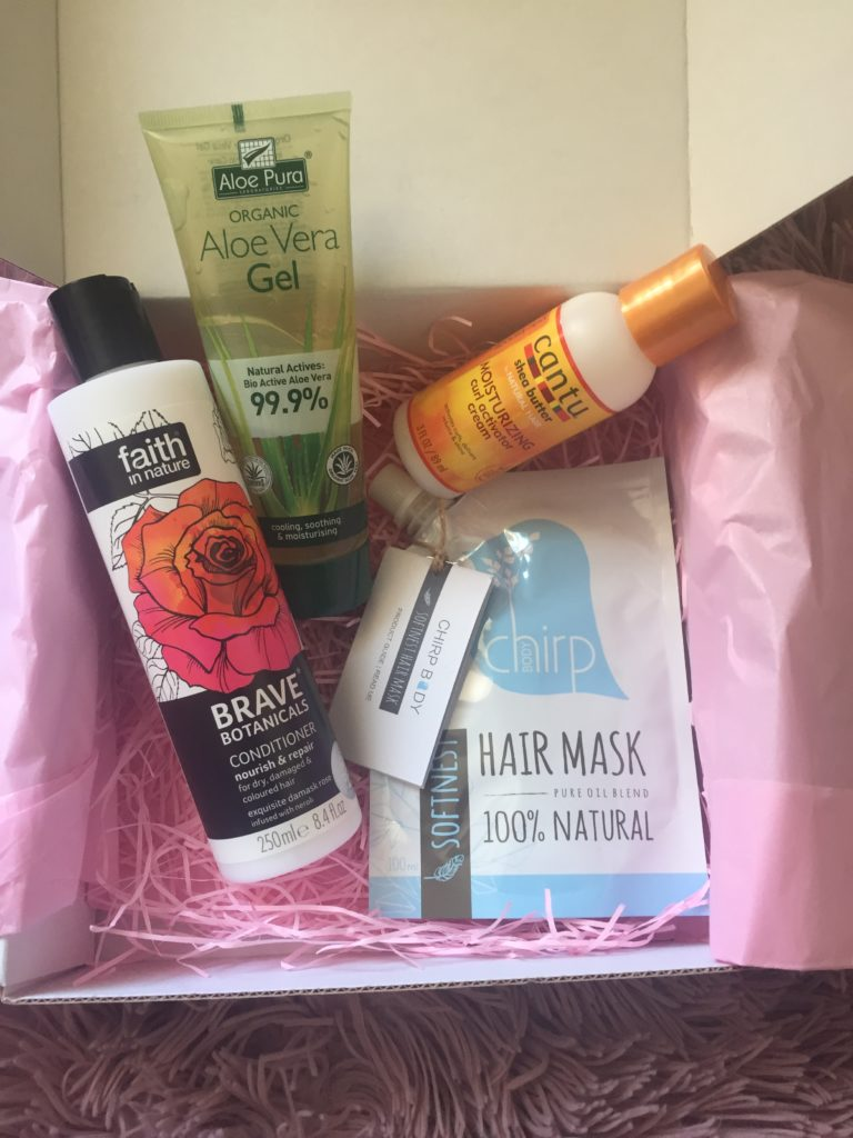 Curls Allowed October box items in box