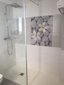 Shower at Europa Splash hotel, Malgrat de Mar