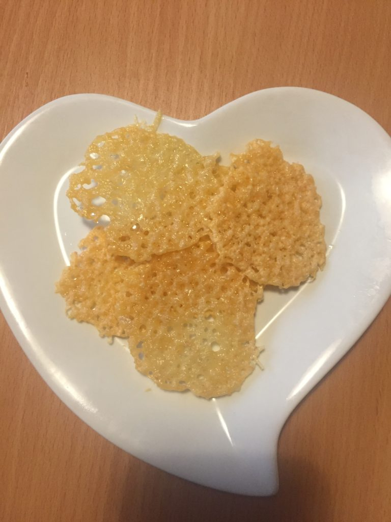 cheese crisps on a plate