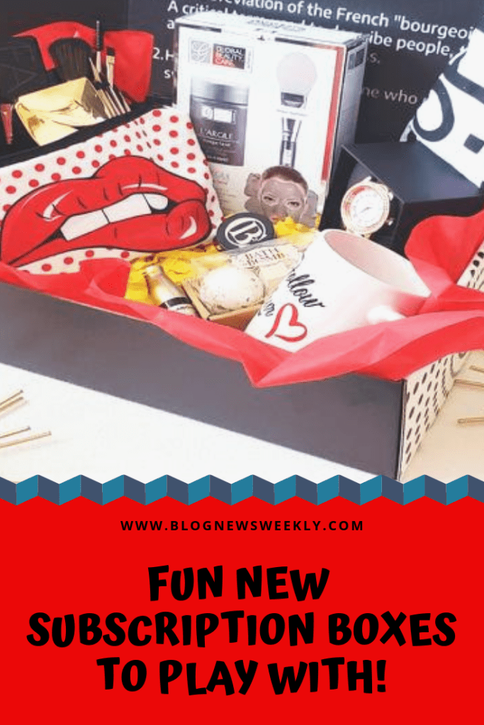 Hey, here are some fun new subscription boxes to play with! If you haven't jumped on the subscription box wagon yet, you are missing out. Check out this lot!