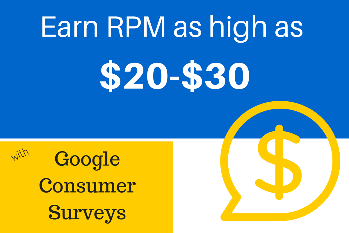 How to Increase Website Revenue with Google Consumer Surveys