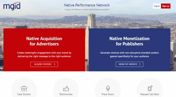 MGID Native Advertising Marketplace