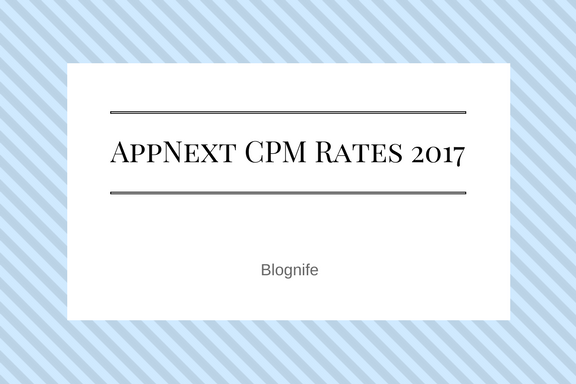 Appnext CPM Rates 2017