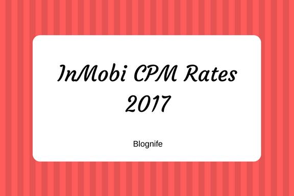InMobi CPM Rates 2019