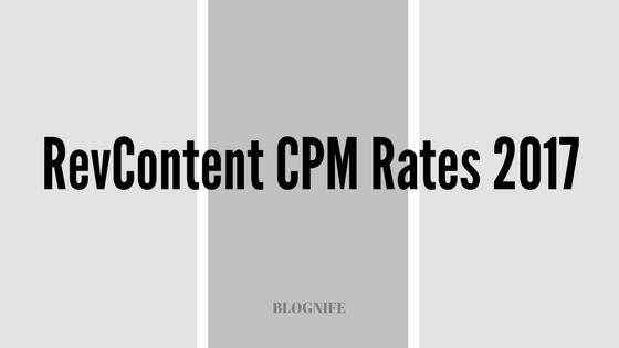 RevContent CPM Rates 2018