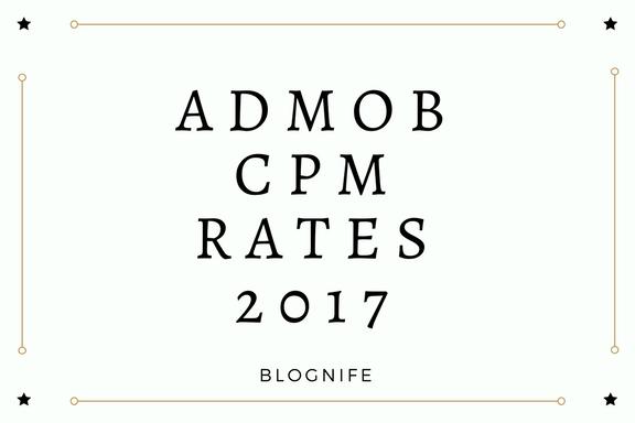 AdMob CPM Rates 2018