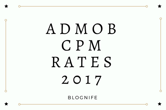 AdMob CPM Rates 2020