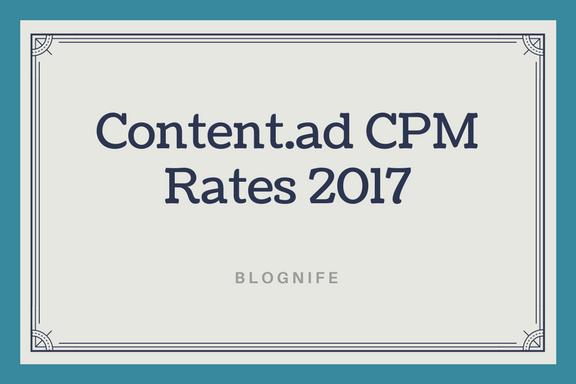 Content.ad CPM Rates 2017