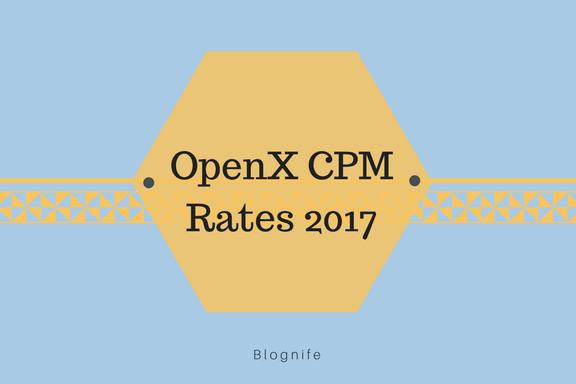 OpenX CPM Rates 2019
