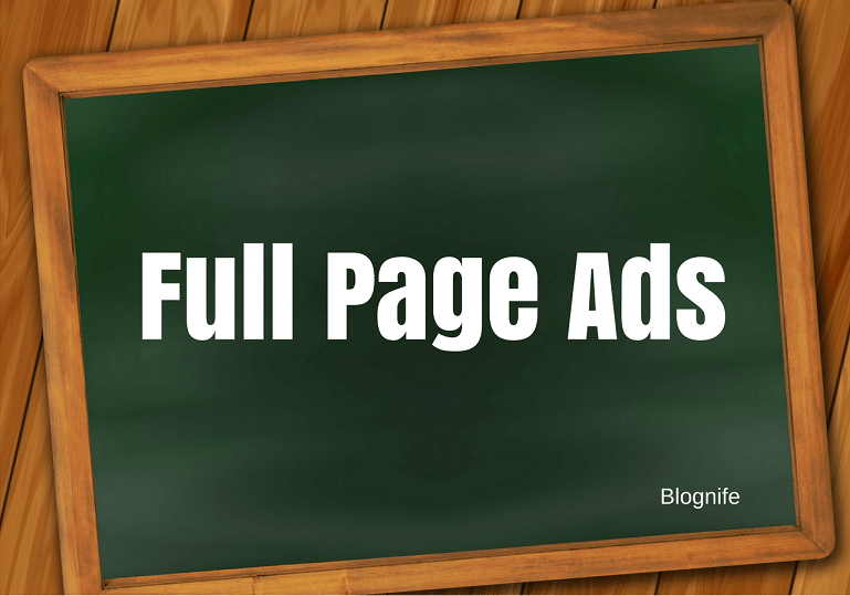 What are Full Page Ad Units?