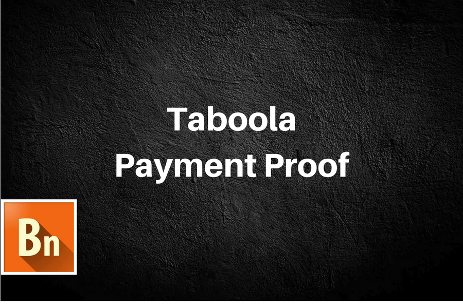 Taboola Payment Proof for Publishers- 2019