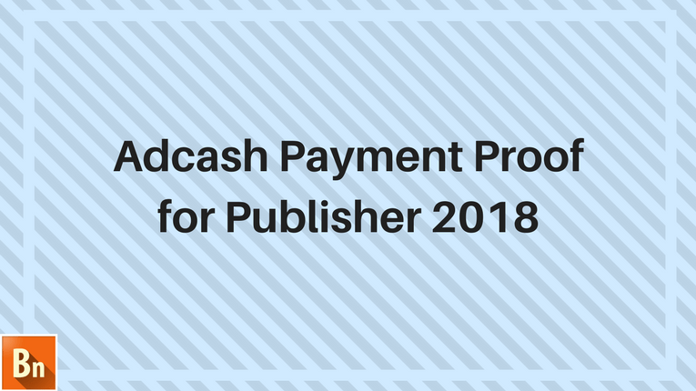 Adcash Payment Proof 2018