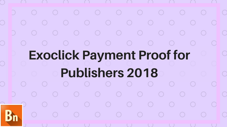 Exoclick Payment Proof for Publishers 2020