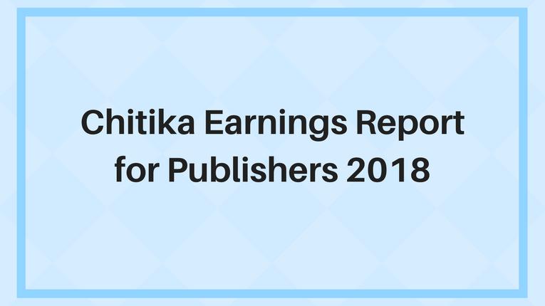Chitika Earnings Report 2018