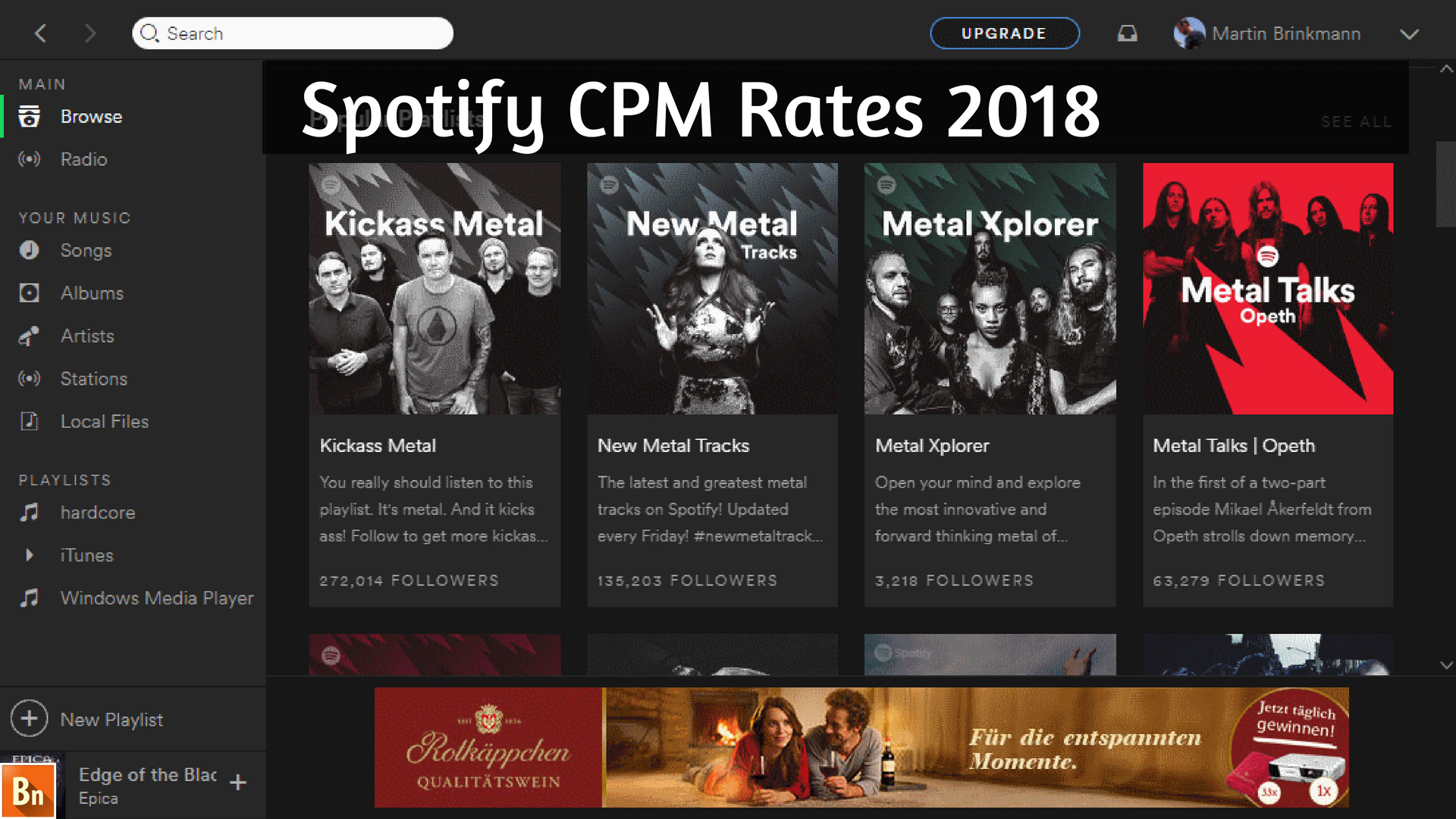 Spotify CPM Rates 2018
