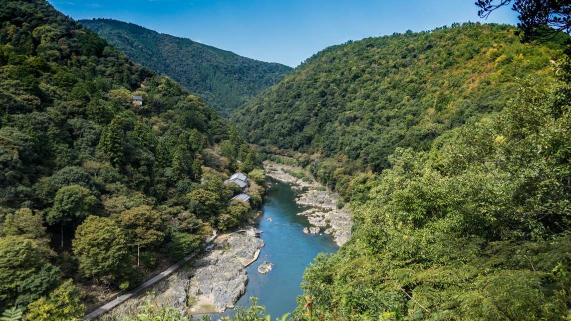 The river and mountains of Arashiyama