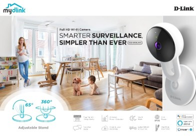 D-Link's new DCS-8300LHV2 Full HD Wi-Fi Camera with AI-based person detection