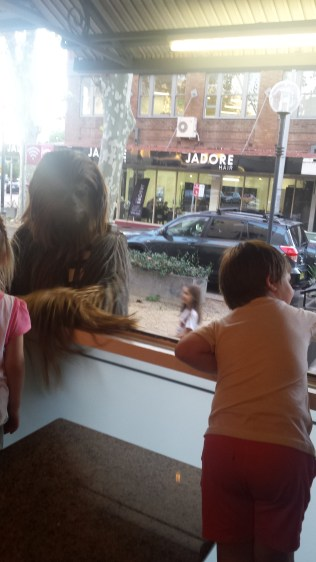 My youngest child chatting with Chewbacca