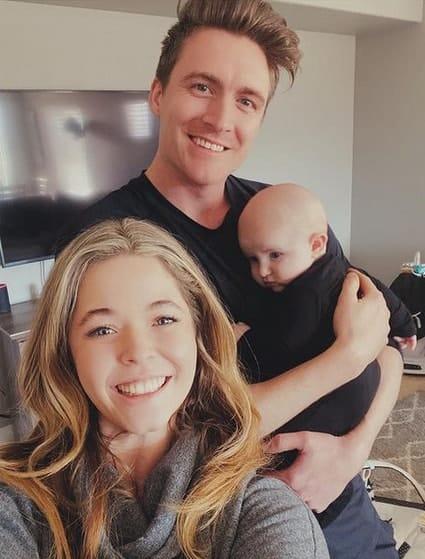 Sasha, Hudson Sheaffer and their son