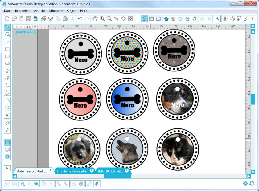 Logos erstellen,Labels erstellen, Aufkleber machen, Silhouette Software, Plotter