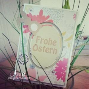 Kullerkarte,Karte basteln,Karten gestalten, Grußarte,Ostern,Easter,paper craft