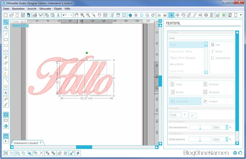 Plotter - Schriftarten - Wie man Buchstaben auseinander schiebt (7)