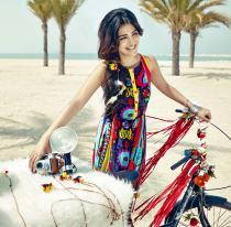 Shruti Hassan ShoppersStop- Colourful Dress (1)