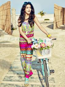 Shruti Hassan ShoppersStop- Colourful Jumpsuit