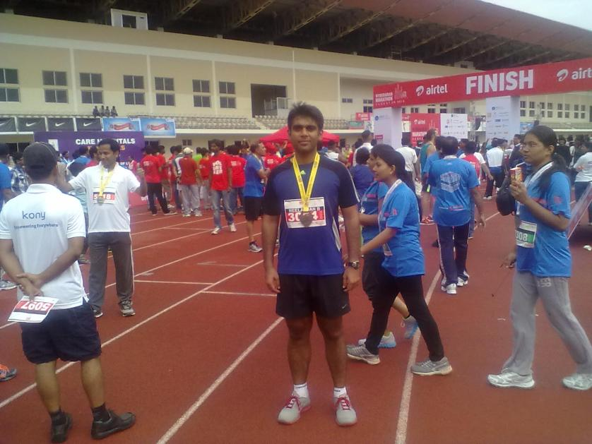 After Hyderabad Half Marathon 2013