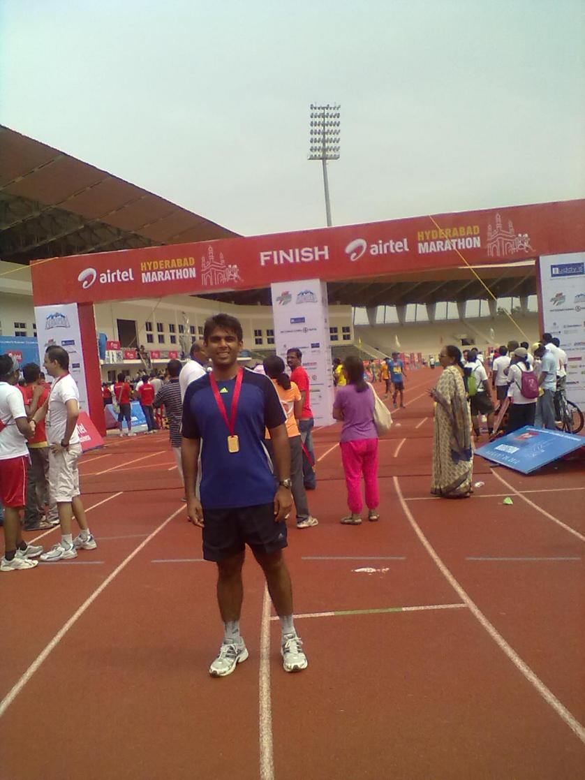 After Hyderabad Marathon 2012
