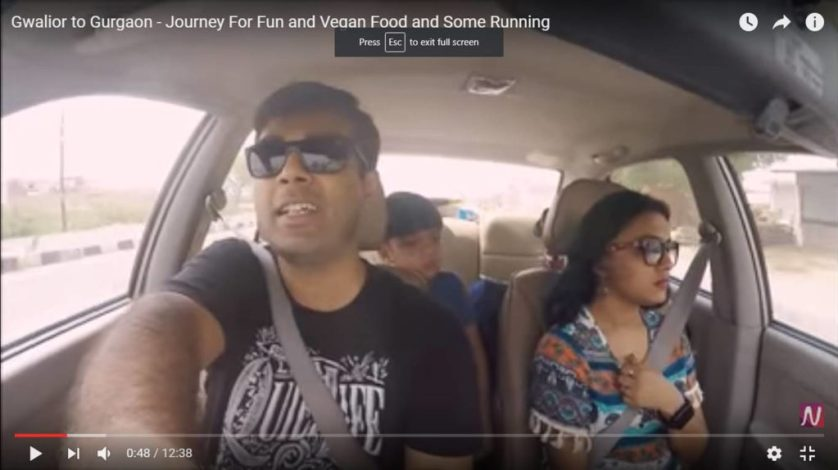 Gwalior to Gurgaon – Journey For Fun and Vegan Food and Some Running
