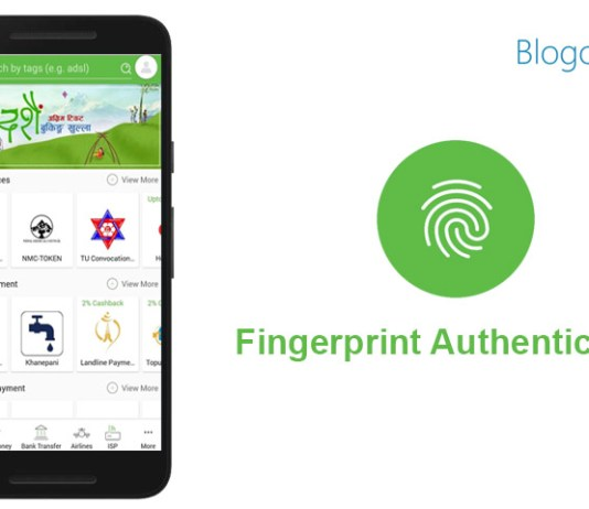 esewa app fingerprint