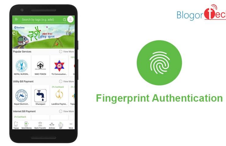 esewa app fingerprint