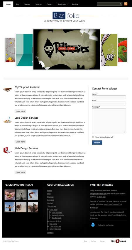 bizzfolio free wordpress theme