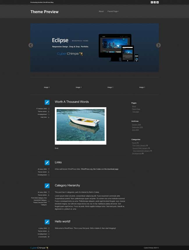 eclipse free wordpress theme demo