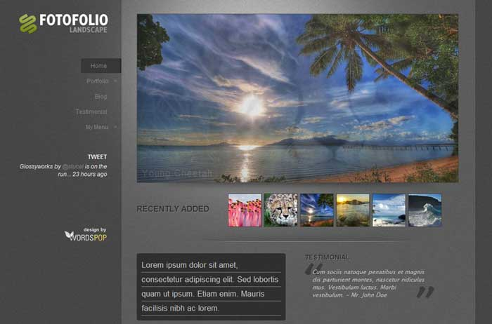 fotofolio landscape theme wordpress