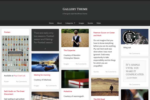 gallery theme wordpress