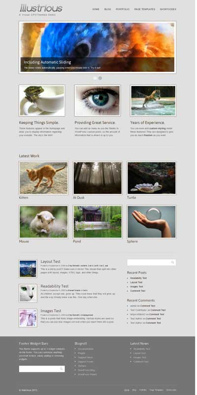 illustrious wordpress theme