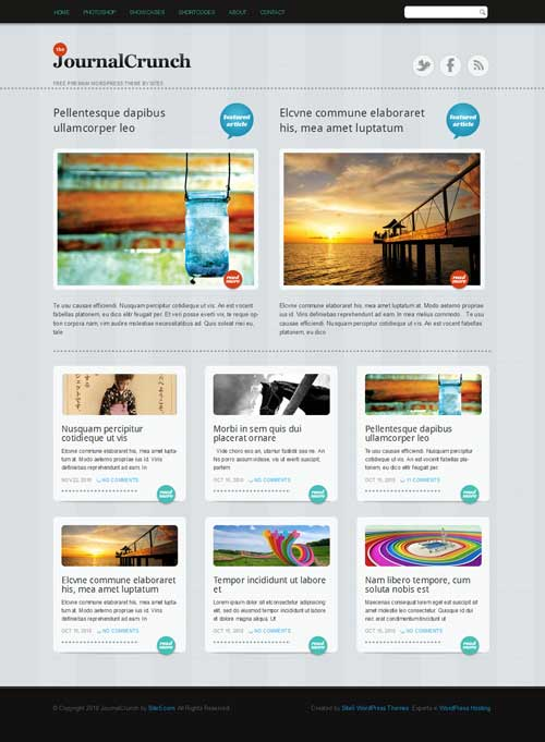 journal crunch wordpress theme