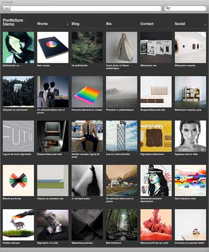Portfolium press free wordpress theme