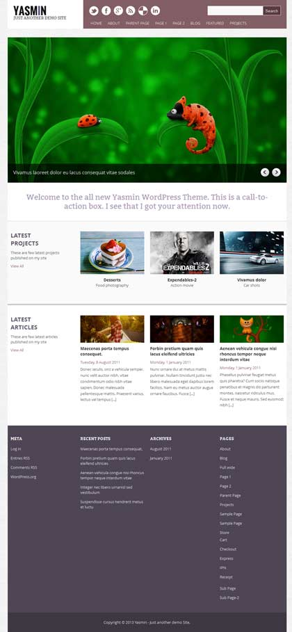 yasmin wordpress themes